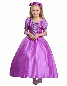 Rapunzel Dress Girls Princess Costume Party Dress Up Cosplay Kids Dress K1