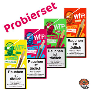 Probierset: 4 x 5 WTF! Big´n Tipsy Shisharillos mit Tipsy Mundstück, Zigarillos