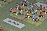 25mm renaissance / generic - infantry 18 figures - inf (21143)
