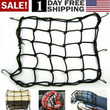 Cargo Net Motorcycle Helmet Mesh Luggage Tie Down Adjustable Black Bungee Cord