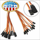 10Pcs 500mm Servo Extension Lead Wire Cable For RC Futaba JR Male to Female 50cm