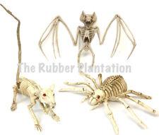3 Halloween Animal Skeleton Bones Prop Party Decoration Rat Spider Bat SET OF 3