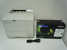 HP Laserjet 4100 4100N Laser Printer +128mb Memory Upgrade +New HP MSE 61X Toner