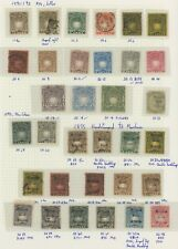 BRITISH EAST AFRICA 1890-1895 KUT RARE STAMP ALBUM PAGE WITH MOMBASA HANDSTAMPS