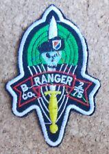 Ecusson/patch US Vietnam - B CO Ranger 2nd battalion 75th infantry regiment