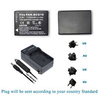 2X For Panasonic DMW-BCG10GK DMW-BCG10E BCG10PP Battery For TZ6/ZS7 +Charger