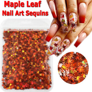 1 Bag Holographic Shiny Maple Leaf Nail Art Sequins Nail Glitter Flakes Nail Art
