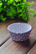 120 Pcs Purple & White Dot baking Cups Cupcake liners muffin cupcake cases  CW51