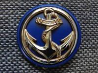 macaron plastique bleu marine pour insigne de béret des TDM Troupes de Marine