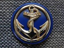 Insigne de béret des Troupes de Marine avec son macaron de tradition bleu marine