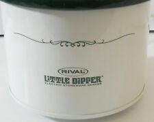 Rival Little Dipper Crock Pot Server Model 3204 White Green Lid
