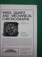 10/86 PUB REVUE THOMMEN WALDENBURG SWISS QUARTZ AIRCRAFT CLOCKS CHRONOGRAPHS AD