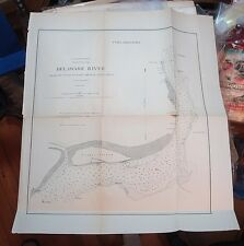 1871 MAP of DELAWARE RIVER, Camden Navy Yard to Schuylkill River/Along Shore/m15