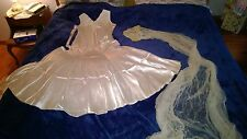 1931 Vintage Antique Old Wedding Bride's Dress Gown, Veil, Headpiece, and Shawl