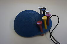 Cap-Shape Golf Ball Cleaner in Cup with Tee Holder and 6 Wood Tees