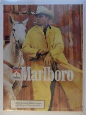 1989 Print Ad Marlboro Man Cigarettes ~ Western Cowboy Yellow Raincoat