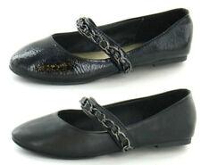 Chaussures noires en synthétique à enfiler pour fille de 2 à 16 ans