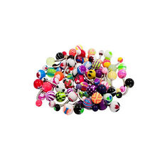Lot of 40 14G Belly Button Rings Surgical Steel Piercing Jewelry No Duplicates