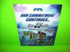 JVL 11 Inch Countertop Coin-Op Video Amusement Arcade Game Promo Sales Flyer