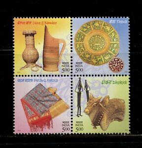 B723  India  2002   art   crafts   block   MNH