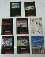 LOT 8 NINTENDO 64 AND SUPER NES  MANUALS INSTRUCTOINS  MARIO ROAD RUNNER, & MORE