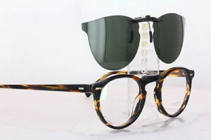 Custom Fit Polarized CLIP-ON Sunglasses For Oliver Peoples OV5186 45x23 OV-5186