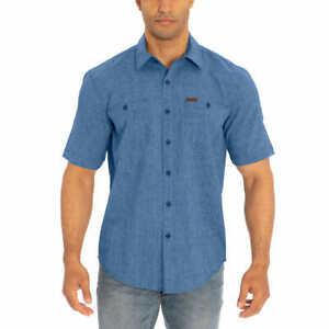 Orvis Men's Short Sleeve Woven Shirt -  BLUE (Select Size: S-XXLT)