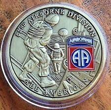 The USA 82nd Airborne Division Medallion Medal Coin All American Respect Service