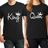 New Design Couple T-Shirt King And Queen Love Matching Shirts Summer Tee Tops