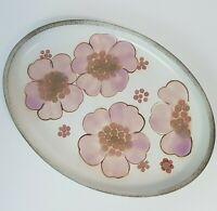 Vintage Denby Langley Gypsy Serving Platter Plate Lavender & Pink Flowers