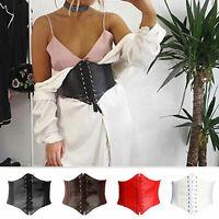 Frauen-Taillen-Korsett-breiter Bund-Leder-elastischer gebundener Waspie-Gurt