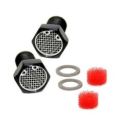 Black Anodized Aluminum Harley Sportster  Head Breather Bolt  Filter 1984 - 2012