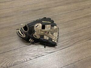 "Wilson A2000 12.75"" Y Web Baseball Black Gray"