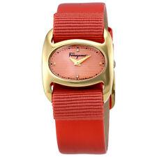 Ferragamo Varina Peach Dial Ladies Dress Watch FIE020015
