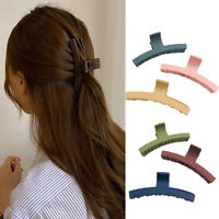 Women Hair Accessories Big Medium Solid Color Dull Polish Acrylic Grip Hair Claw