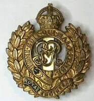 WW1 Royal Engineers Gilt Cap Badge George V Cipher 1910-36