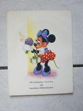 """Minnie  Maus -Tönende Glückwunschkarte"""" von """"HAnsa Bonn"""" 50 er Jahre -Bildkarte"""