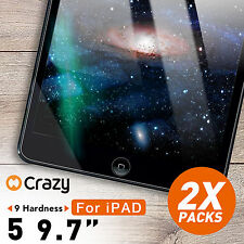 "2 X Tempered Glass Screen Protector for Apple New iPad 5 9.7"" 2017"