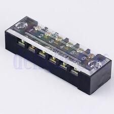 1pc 6-Position 600V 15A Double Row Barrier Block Screw Terminal Strip DH