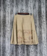 Christian Lacroix Womens Skirt Pleated Check Vintage size S