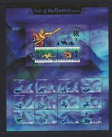 CI105) Christmas Island 2004 Year of the Monkey Sheetlet MUH