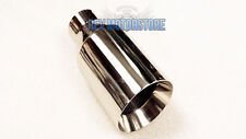 """Chrome Exhaust Tailpipe 4"""" Accoustic Style Tailtrim Stainless Tip 2.25"""""""