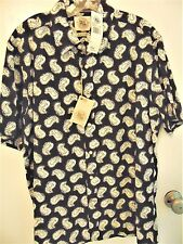 Pusser's West Indies Men's Size Large Espresso & Ivory Camp Shirt Nwts Rtl $75