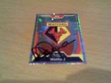 signed watford match attax badge of ex manager steve perryman