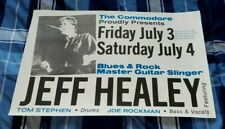 JEFF HEALY ORIGINAL CONCERT POSTER VANCOUVER JULY 4th, and 5th, 1987 WOW!