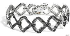 new $1600 JOHN HARDY silver 18K Legends Naga Black Sapphires BRACELET M - rare