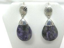 Jay King DTR Sterling Silver & Purple Gemstone EARRINGS Drop/Dangle Saves Pets