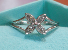 "Tiffany & Co ""Victoria"" Ring of Diamonds Set in Platinum, Size US7.5, MINT"