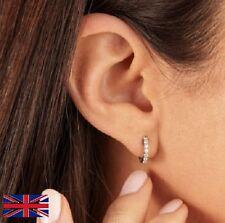 Sterling Silver Hoop Crystal Women's Earring
