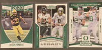 2020 CONTENDERS JUSTIN HERBERT DRAFT CLASS, LEGACY, COLLEGIATE CONNECTIONS LOT/3